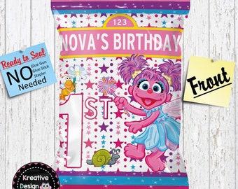 Abby Cadabby Chip Bag Custom AbbyChip Bag Favor Bags Digital File Empty Bags Birthday Favor Chips Treat Bags