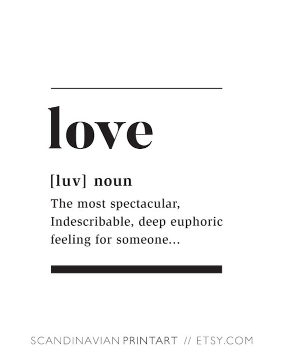 Definition Of Love Quotes Amazing Love Definition Definition Print  Definition Poster