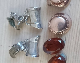Three pairs of vintage clip on earrings