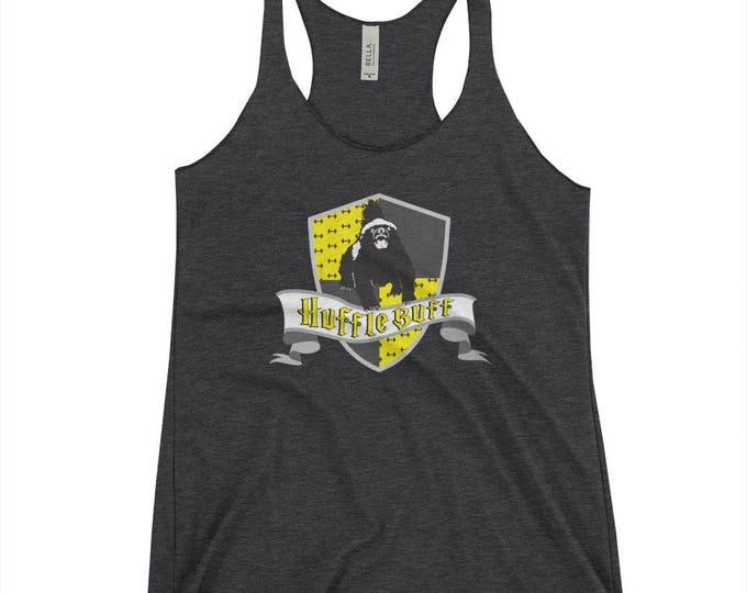 Hufflebuff Racerback Tank Top ( Harry Potter Inspired Design // Hufflepuff Parody Tank top //