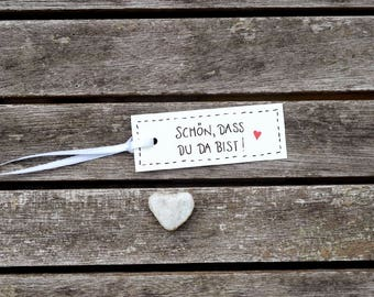 100x nice that you are there!. Gift tags. Gifttags. Stationery. Gift. Birthday. Trailer. Wedding. Anniversary. Set