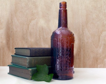 Vintage Amber Lord Calvert Whiskey Bottle