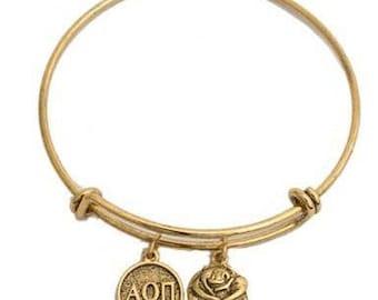 Alpha Omicron Pi Expandable Bracelet