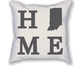 Indiana Home State Pillow