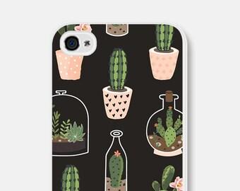 iPhone 6 Case Cactus iPhone 6s Case Cactus Phone Case Succulent Samsung Galaxy S6 Case Cactus iPhone SE Case Pink Green iPhone 5s Case Black