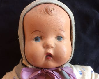 Vintage Full Body Composition Baby Doll - 1930