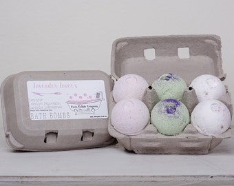 Bath Bombs, Lavender Lovers, made with essential oils by Green Bubble Gorgeous on etsy