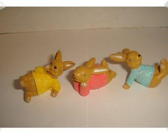 Miniature Rabbits/ Resin/  Set of 3/Minis/Supplies*