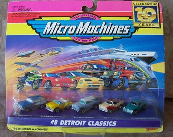 Vintage MicroMachines cars new in package.  R728-729-1