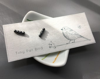Blip Post Earring Set in Oxidized Recycled Sterling Silver
