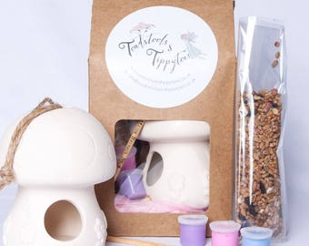 Craft Kit: Ceramic Toadstool Birdfeeder Craft Kit