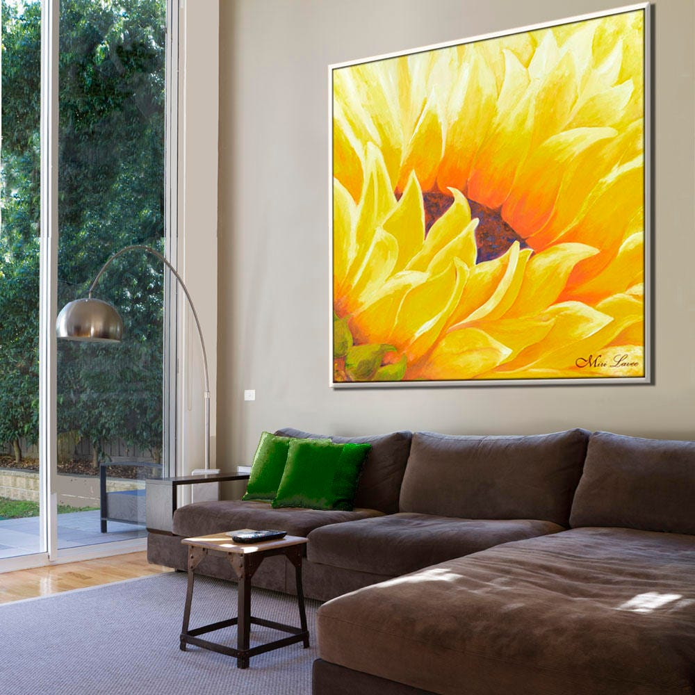 Flower Wall Art Abstract Painting Abstract Wall Art