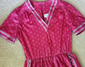 Vintage 1970s Boho Lady Carol Dress/70s Dress/Small Medium