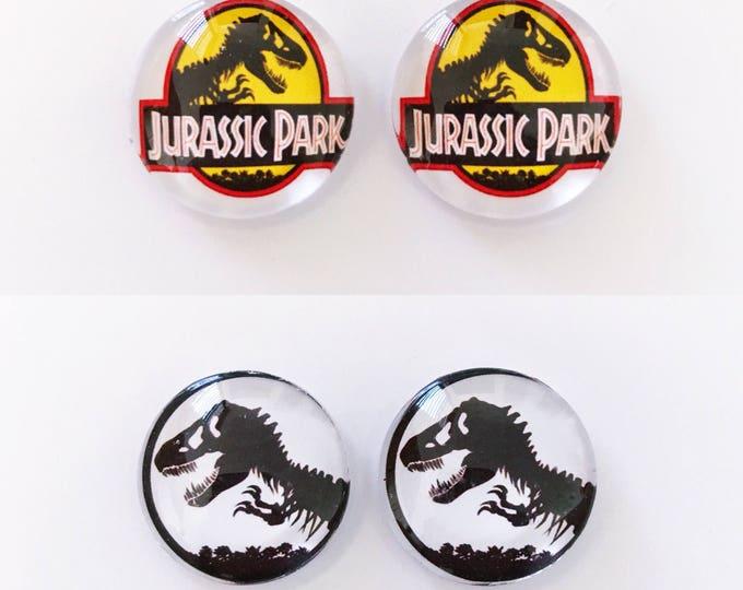 The 'Jurassic Park' Glass Earring Studs