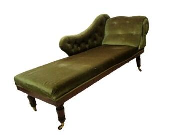 Victorian Antique Chaise Longue