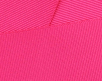 "1.5"" Grosgrain Ribbon Solid 175 Shocking Pink 5yd"
