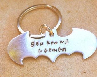 Batman, Batman Keychain, Boyfriend Gift, Fathers Day Gifts,  Personalized Batman Gifts, natashaaloha