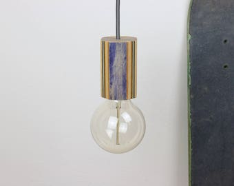 "Skate lamp ""Ollie"" 3.0, suspended lamp from recycled skateboards"