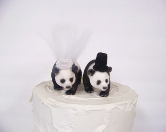 Panda Bear Cake Topper, Bear Wedding Cake Topper, Animal Cake Topper, Woodland Cake Topper, Forest Cake Topper