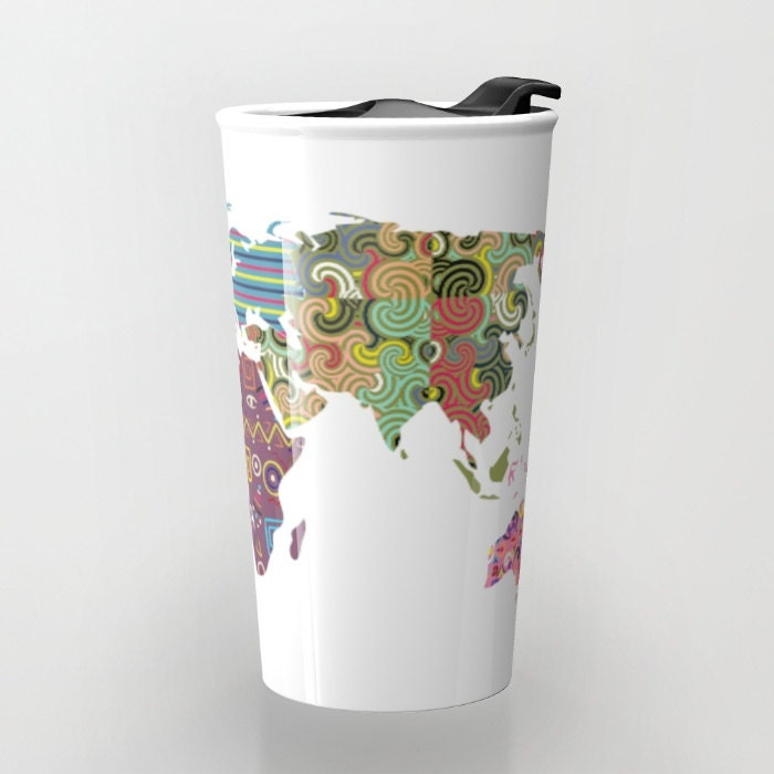 World map travel mug cute travel mug ceramic mug unique coffee world map travel mug cute travel mug ceramic mug unique coffee mugs tea mug travel gift gumiabroncs