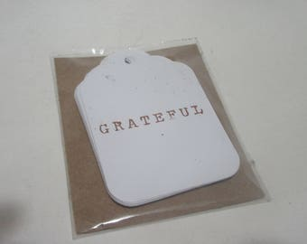 """Ms. Sparkle & Co. Paperie Tags - """"Gratitude"""" - Package of 12"""