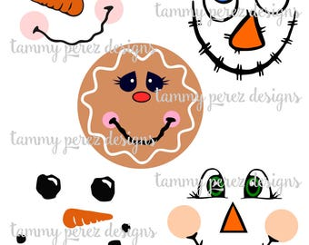 Scarecrow Snowman Gingerbread SVG DXF - Digital File for Craft Cutting