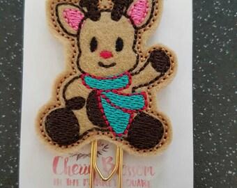 Cute Christmas Reindeer Paper Clip