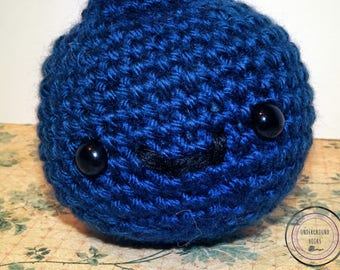 Blueberry Cutie - Crochet Blueberry Plushie - Cute Blueberry Amigurumi - Cute Blueberry Stuffie - Cute Blueberry Stuffed Animal - Fruit Toy
