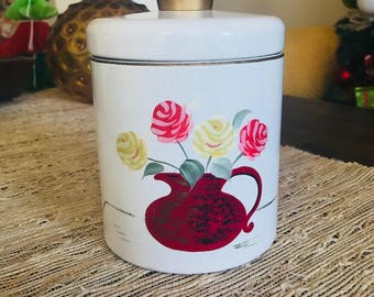 Sweet Ransburg Indianapolis Rose Vase Tin Jar