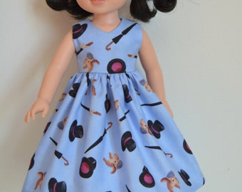 """Handmade Doll Clothes Dress fits 14.5"""" American Girl Wellie Wishers Dolls Handcraft E"""