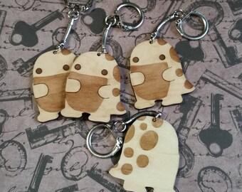 Wooden laser cut quaggan keychain