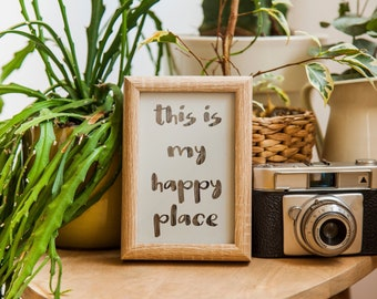 This is my happy place -Instant Download inspirational Quote Print, living room, bedroom, office, studio Printable Art Wall Decor