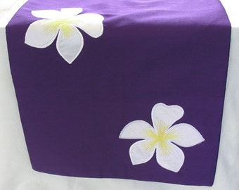 Purple Floral Table Runner , Purple Table Runner, Floral Table Runner, Table  Decor Available In Many Colors, Frangipani Table Runner