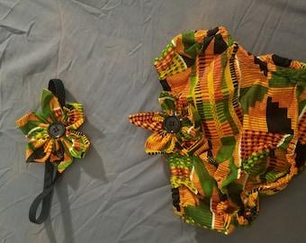 Matching headband & diaper cover sets