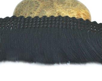 50cm black 25mm cotton fringe trim