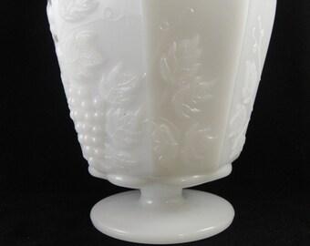 Brody Grape Pattern Milk Glass Vase MJ 20