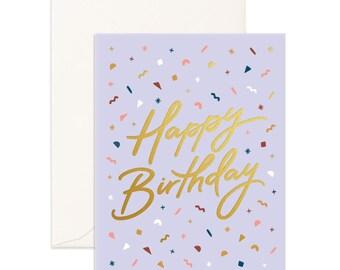 Happy Birthday Confetti Greeting Card