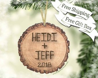 First Christmas Ornament   Engagement Gift   Bridal Shower Gift   Custom Wedding Ornament   Personalized Newlywed Ornaments   WE07
