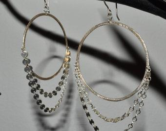 Big and Bold Sterling Silver & Disk Hoop Earrings