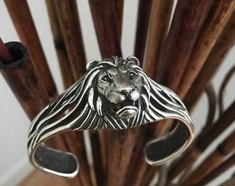 Lion head sterling silver bracelet 925
