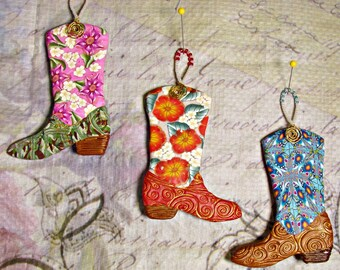 Cowboy Boot ornaments ORN0017-15