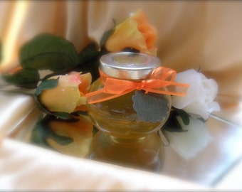 Guests Favors, Natural Raw Honey, Faceted Jars, Hand Made Gift Tags 12