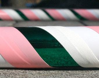 Collapsible Hula Hoop- Sailor Jupiter- Pink, green, and white