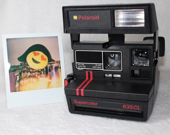 Original Dual Stripe Polaroid Supercolor 635CL - Works Great, Tested and Cleaned