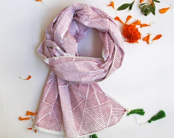 Lucy block printed scarf.