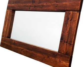 Chunky Bespoke Reclaimed Wooden Mirror Various Sizes