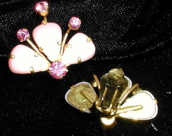 Vintage Pink Lucite Earring