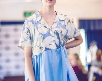 Baby blue smock dress