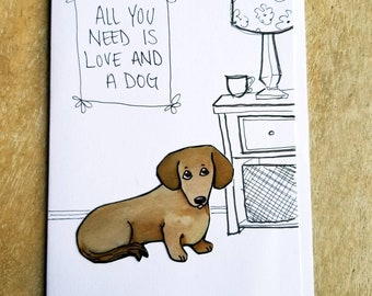 Love Dog Card