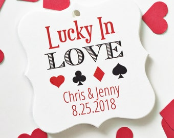 Lucky In Love Tags, Lucky In Love Wedding Favor Tags, Lucky Wedding Hang Tags  (FS-124)